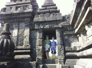 Sarah and Seth at Prambanan